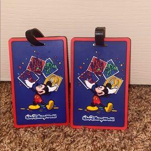 Walt Disney World Resort Luggage Tags NWOT